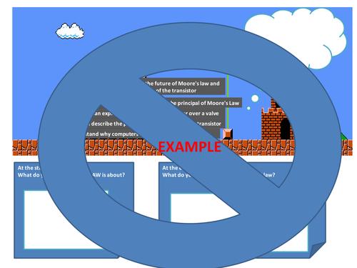 Mario Method of Assessing/demonstrating Progress