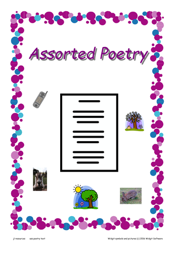 World Poetry Day Assorted Poems