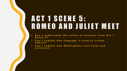 romeo and juliet act scene romeo and juliet first meet by romeo and juliet act 1 scene 5 romeo and juliet first meet by slinds teaching resources tes
