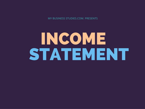 Income Statement Power Point Slide