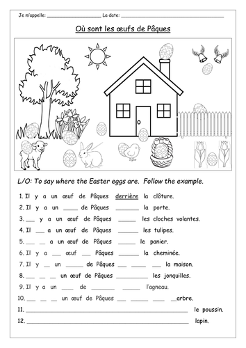 french easter activities by labellaroma teaching resources tes. Black Bedroom Furniture Sets. Home Design Ideas