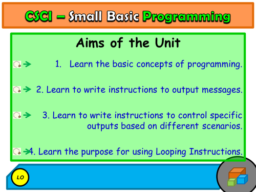 Small Basic - Programming Unit - 5 Lessons of programming