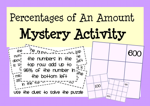 Calculating Percentages - Activities & Puzzles