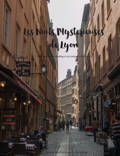 Worksheets to go with Nuits mysterieuses à Lyon TPRS reader