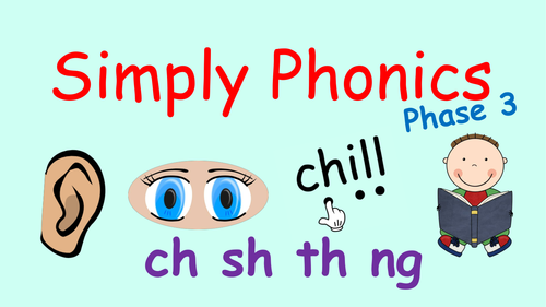Phase 3 Phonics - Powerpoint with Consonant Digraphs ch, sh, th and ng, Revision and Blending by mrdennis - Teaching Resources - Tes