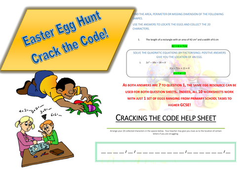 Easter Maths Activities For All ages (PLUS 2 Bundled resources - Willy Wonka and Pi investigations)