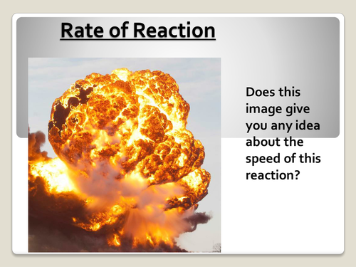 AQA Additional Chemistry C2.4 Reaction Rate Lesson Plan