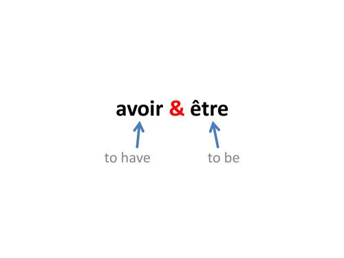'avoir' & 'être', including 'avoir' phrases