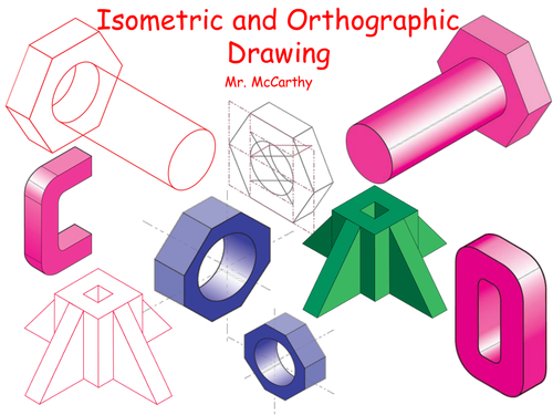 Isometric nut and bolt step by step tutorial.