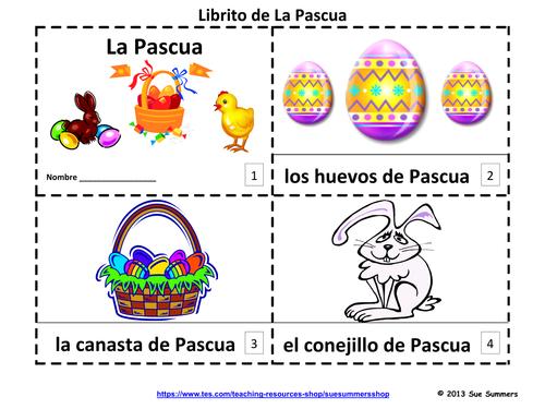 Spanish Easter Emergent Reader Booklets - La Pascua