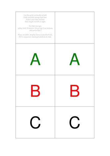 ABC multiple choice test chooser