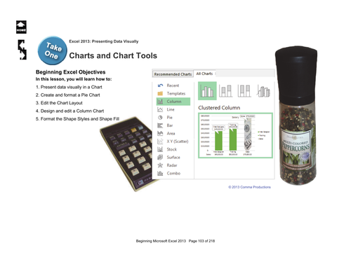 Microsoft Excel 2013 Beginning: Chart and Chart Tools