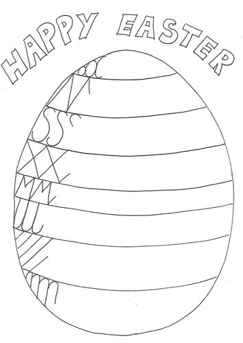 Easter Egg handwriting