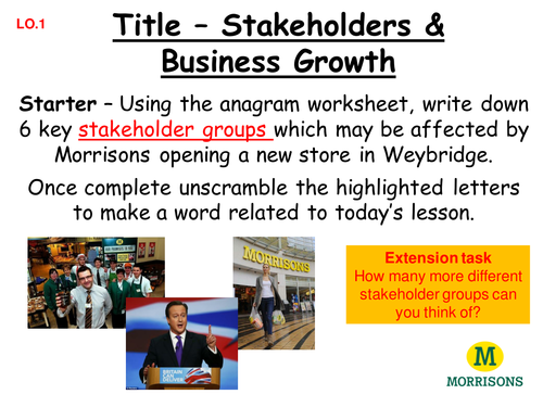 Stakeholders GCSE Business Studies Lesson