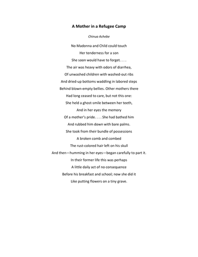 refugee blues poem analysis Analysis of the darkling thrush poem refugee blues say this city has ten as a refugee, the speaker of the poem has lost his home.