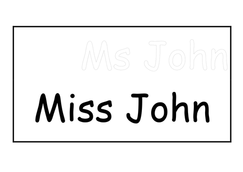 Name card (double sided)