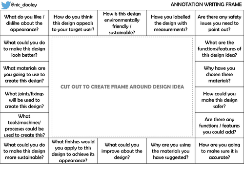 Annotation Writing Frame