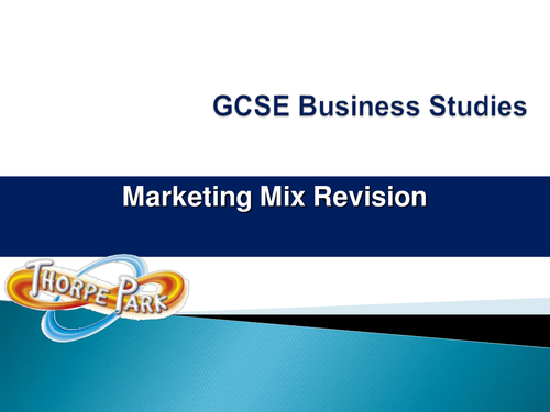 Marketing Mix Revision Activity for GCSE Business