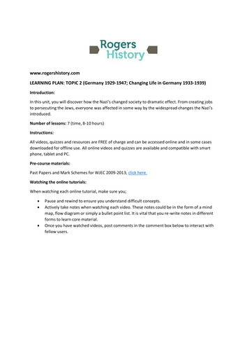 Life in Nazi Germany Interactive Worksheet