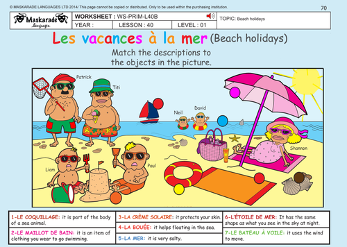 French Unit 7 My Home Transport Summer Holiday Y3