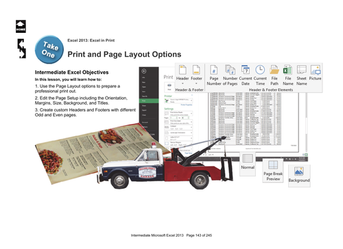 Microsoft Excel 2010 Intermediate: In Print