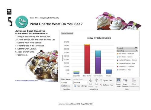 Microsoft Excel 2013 Advanced: PivotCharts