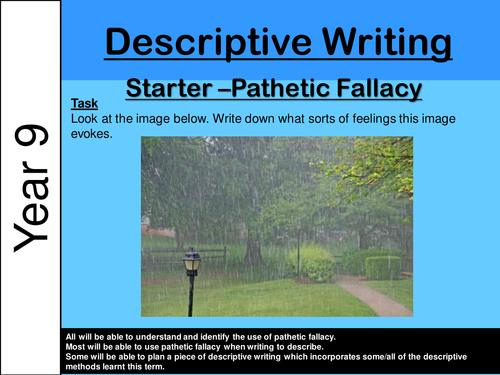 Ks3 Descriptive Writing Pathetic Fallacy By Hphelan3652