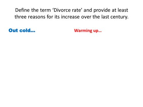 AS Sociology: Divorce.
