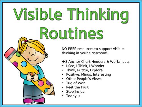 Visible Thinking - Classroom Resource - Display - Higher Order Thinking Skills!