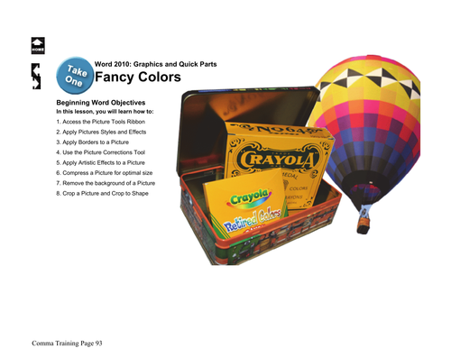 Microsoft Word 2013 Beginning: Fancy Colors