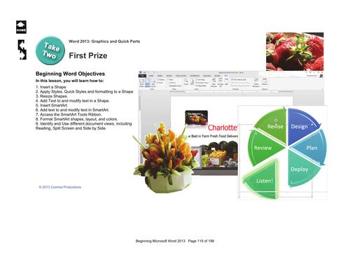Microsoft Word 2013 Beginning: First Prize