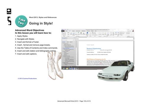Microsoft Word 2013 Advanced: Styles 1