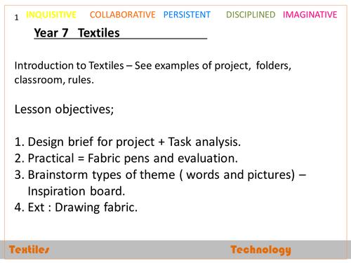 Textiles - Denim bags project