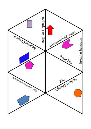 2D Shapes Naming Tarsia Puzzle