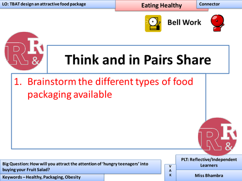 Design Task - fruit salad, lesson plan in the style of the apprentice - Year 7