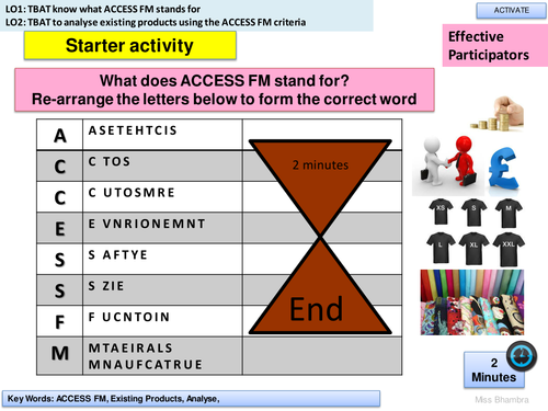 OUTSTANDING LESSON PLAN YEAR 9 TEXTILES PRODUCT ANALYSIS with steps