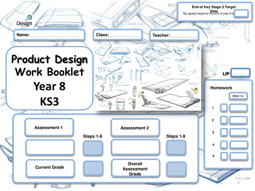 Resistant Materials booklet in full with STEPS for year 8
