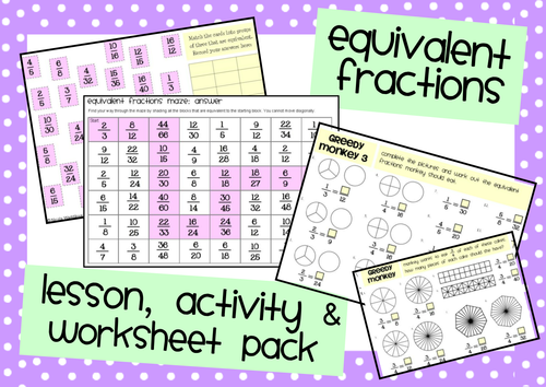 Equivalent Fractions Lesson & Activity Pack