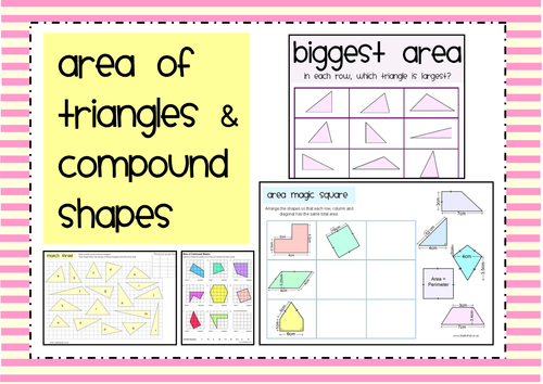 Area of Triangles & Compound Shapes Activity Pack