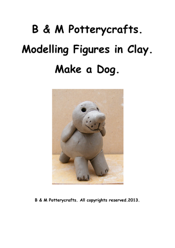 Clay modelling. Make a dog.