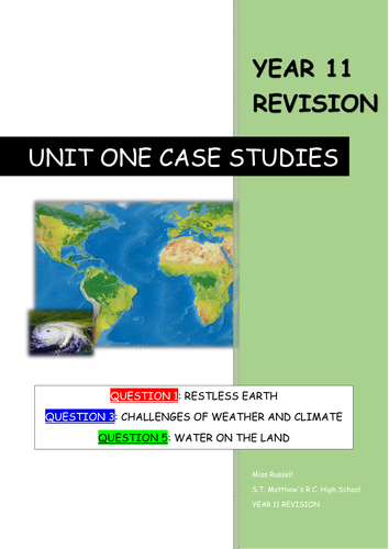 Case studies GCSE Geography AQA A by Maxwell      Teaching     Marked by Teachers Geography GCSE  Edexcel Notes for whole course