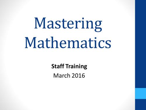 Maths Mastery STAFF INSET PPT