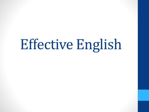 Effective English STAFF INSET PPT