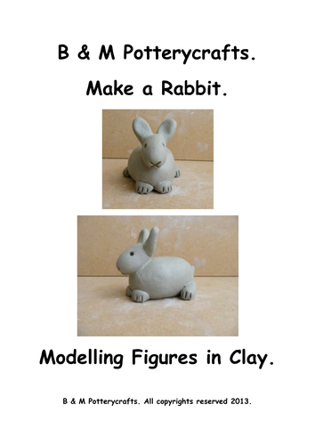 Clay modelling. Make a Rabbit.