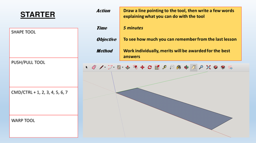 SketchUp Introductory Lesson Plan - Graded OFSTED Outstanding