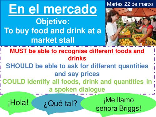 En el mercado Mira 2 (ppt and pupil booklet)
