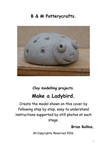 Make a Ladybird. Clay modelling.