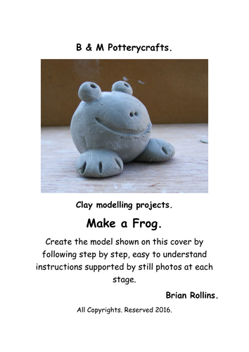 Make a Frog. Clay modelling.