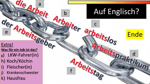 Jobs/professions in German