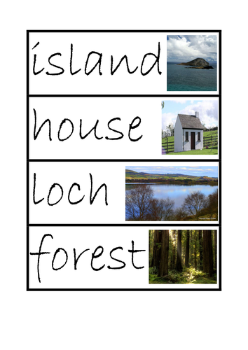 Key Word Cards for Islands